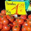 Red tomato on sale — Foto Stock