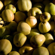Many yellow and green apples - Stock Photo