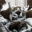 Stream running through the winter landscape — Stock Photo