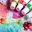 Color palette with different color tubes — Stock Photo #8811401