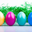 Four colored Easter eggs V2 — Stock Photo