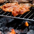 Stock Photo: Meat on grill