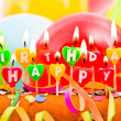 Happy Birthday candles — Stock Photo #8812666