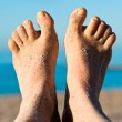 Sandy feet — Stock Photo