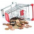 Shopping Cart V1 with coins — Foto Stock