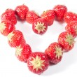 Strawberry Heart V1 — Stock Photo