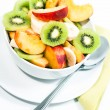 Bowl of fresh fruit V1 — Stock Photo