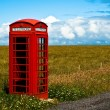 Red phone booth — Lizenzfreies Foto