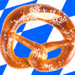 Pretzel with Bavarian Flag — Photo