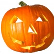 Halloween pumpkin across — Stock Photo