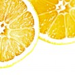 Stock Photo: Two lemons cross section