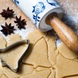 Bell shape with rolling pin and star anise — Lizenzfreies Foto