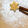 Star with cinnamon sticks — Lizenzfreies Foto