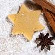 Star with cinnamon sticks and star anise V3 — Zdjęcie stockowe