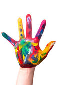 A colorful hand edge — Stock Photo