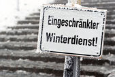 Schild verminderd winter v1 — Stockfoto