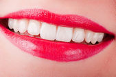 Laughing mouth — Stock Photo