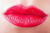赤のキスの唇 v2 — ストック写真