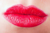 Red kissing lips V2 — Stok fotoğraf