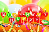 Happy Birthday candles — Stockfoto