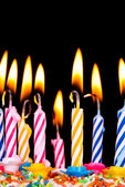 Many coloured candles — Stock Photo