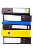 Six files about one another — Stock Photo