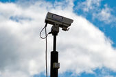 Surveillance camera in front of sky V2 — Stock Photo