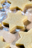 Stars in the flour — Stock Photo