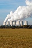 Power plant cooling towers upright V4 — Stock Photo