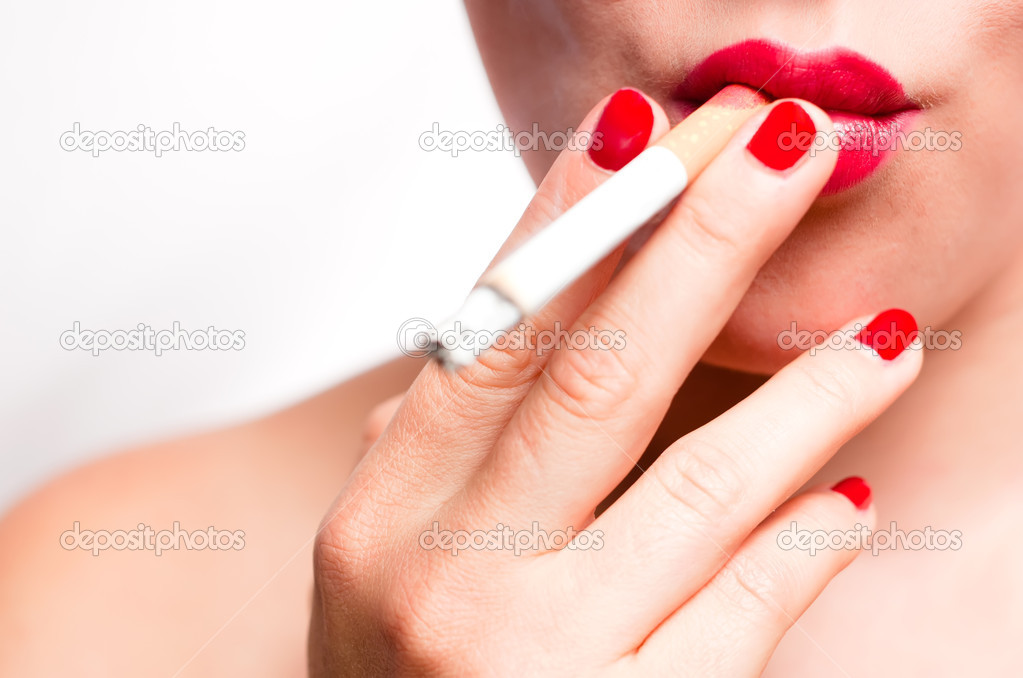 how to make lips red for smokers