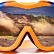 Snowboard glasses — Stock Photo