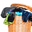 Full laundry basket V1 — Stock Photo