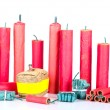 Firecracker assortment — Stock Photo