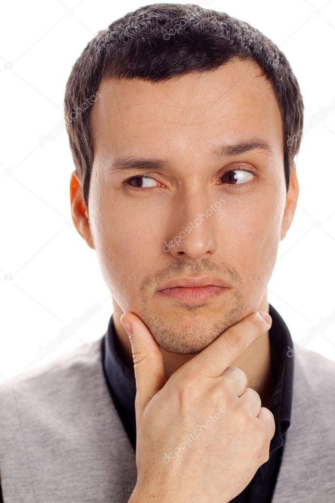 Portrait of a young thoughtful man — Stock Photo #8794092