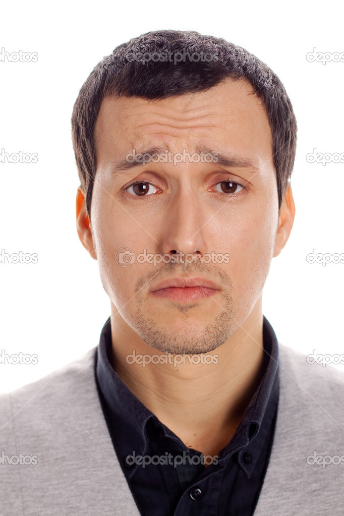 Portrait of a young man sad — Stock Photo #8794163