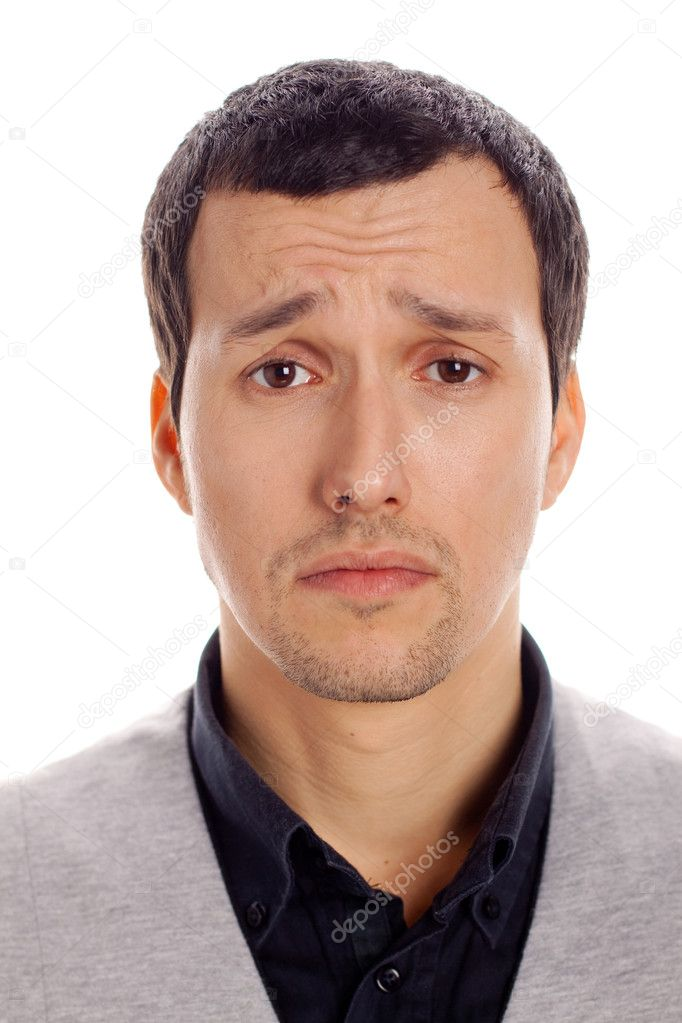 Portrait of a young man sad  Stock Photo #8794163