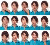 El rostro de actor, una compilación de emociones — Foto de Stock