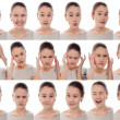 Young girl with different emotions — Stock Photo