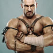 Stock Photo: Muscular male portrait of ancient warrior