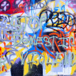 Graffiti wall close up domestic violence - Stock Photo