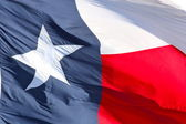Texas flag close up — Stock Photo