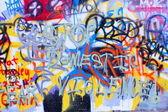 Graffiti wall close up domestic violence — Stock Photo