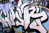 Graffiti wall close up — Stok fotoğraf