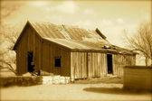 Sepia Old Prairie House — Stock Photo