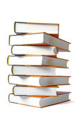 Books stack isolated on white background — Stock Photo