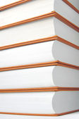 Stack of books, partial view — Stock Photo