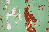 Rusty door detail with color drop off — Stock Photo