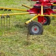 Agricultural machinery for preparing hay — Stock Photo