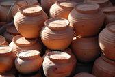 Terracotta pots for sale — Stock Photo