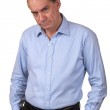 Angry Frowning Grumpy Man with Hands in Pockets — Stock Photo